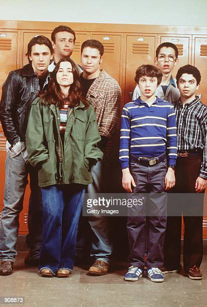 The cast of 'Freaks And Geeks' From lr James Franco Linda Cardellini Seth Rogen John Daley Martin Starr and Samm Levine Photo credit Chris Haston NBC...