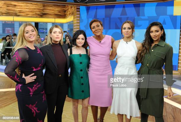 AMERICA The cast of Freeform's Pretty Little Liars' are guests on 'Good Morning America' Tuesday April 18 2017 airing on the ABC Television Network...