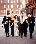 The Cast Of 'Friends' 19992000 Season From LR David Schwimmer Jennifer Aniston Courteney Cox Arquette Matthew Perry Lisa Kudrow And Matt Leblanc