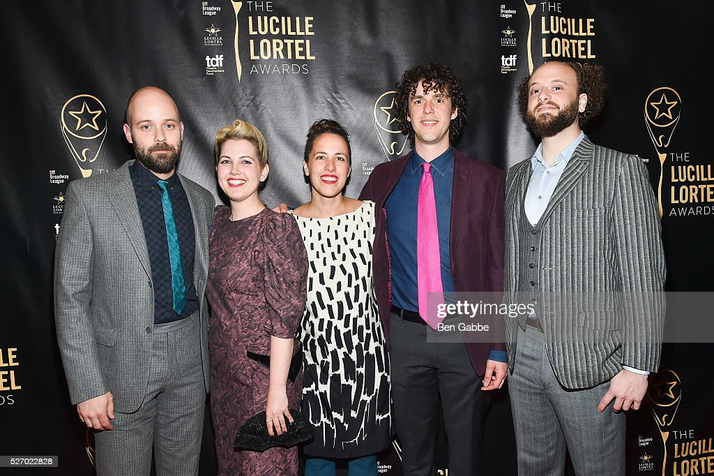 The cast of Futurity attend the 2016 Lucille Lortel Awards on May 01, 2016 in New York, New York.