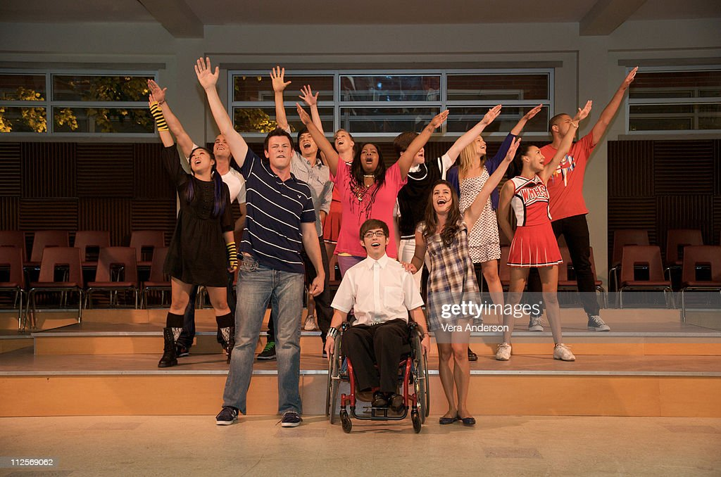 The cast of 'Glee' at Paramount Studios on July 20, 2009 in Los Angeles, California.