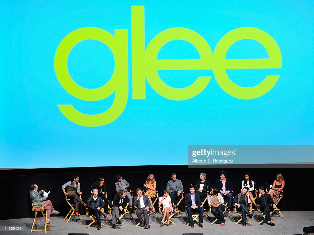 The cast of Glee attends The Academy of Television Arts & Sciences' screening of Fox's 'Glee' at Leonard Goldenson Theatre on May 1, 2012 in North Hollywood, California.