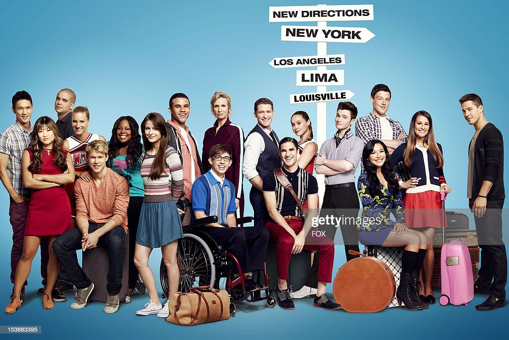 The cast of 'Glee,' Harry Shum Jr., Jenna Ushkowitz, Mark Salling, Heather Morris, Chord Overstreet, Amber Riley, <a gi-track='captionPersonalityLinkClicked' href=/galleries/search?phrase=Melissa+Benoist&family=editorial&specificpeople=5294908 ng-click='$event.stopPropagation()'>Melissa Benoist</a>, Jacob Artist, Kevin McHale, Jane Lynch, Matthew Morrison, Darren Criss, Becca Tobin, Chris Colfer, <a gi-track='captionPersonalityLinkClicked' href=/galleries/search?phrase=Naya+Rivera&family=editorial&specificpeople=5745696 ng-click='$event.stopPropagation()'>Naya Rivera</a>, Cory Monteith, <a gi-track='captionPersonalityLinkClicked' href=/galleries/search?phrase=Lea+Michele&family=editorial&specificpeople=566514 ng-click='$event.stopPropagation()'>Lea Michele</a> and Dean Geyeron on Season Four of GLEE airing on Thursdays (9:00-10:00 PM ET/PT) on FOX.