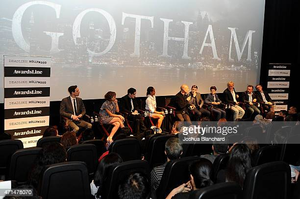 The cast of Gotham attends the Awardsline/Deadline Hollywood Screening of Fox's 'Gotham' at Landmark Theatre on April 28 2015 in Los Angeles...