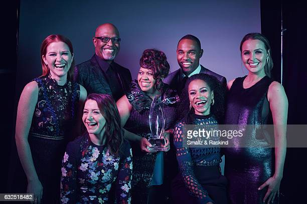 The Cast of Grey's Anatomy poses for a portrait at the 2017 People's Choice Awards at the Microsoft Theater on January 18 2017 in Los Angeles...