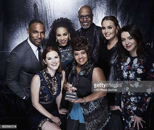 The cast of Grey's Anatomy visits the CBS Photo Booth during the PEOPLE'S CHOICE AWARDS the only major awards show where fans determine the nominees...