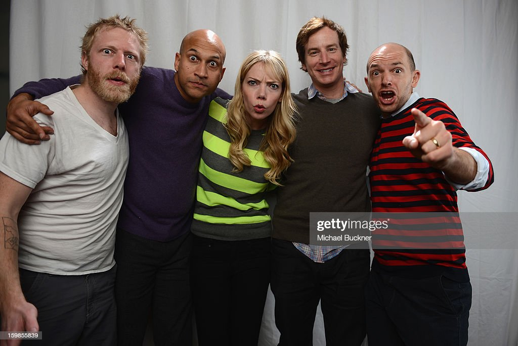 The cast of 'Hell Baby' (L-R) Alex Berg, Keegan Michael Key, Riki Lidnhome, Rob Huebel and Paul Scheer pose for a portrait at the Photo Studio for MSN Wonderwall at ChefDance on January 21, 2013 in Park City, Utah.