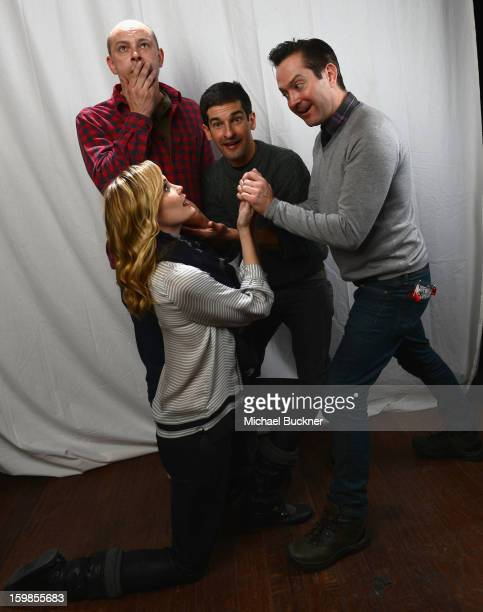 The cast of 'Hell Baby' Leslie Bibb Rob Corddry Robert Ben Garant and Thomas Lennon pose for a portrait at the Photo Studio for MSN Wonderwall at...