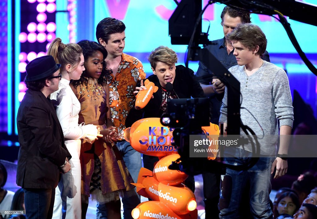 The cast of 'Henry Danger' accepts the award for Favorite TV Show – Kids' Show onstage at Nickelodeon's 2017 Kids' Choice Awards at USC Galen Center on March 11, 2017 in Los Angeles, California.