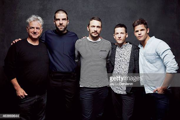 The cast of 'I Am Michael' Michael Mendelsohn James Franco Zachary Quinto Justin Kelly and Charlie Carver pose for a portrait for the Los Angeles...