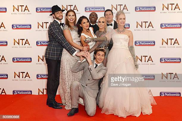 The cast of I'm a Celebirty accepts the award for Entertainment Programme during the 21st National Television Awards at The O2 Arena on January 20...
