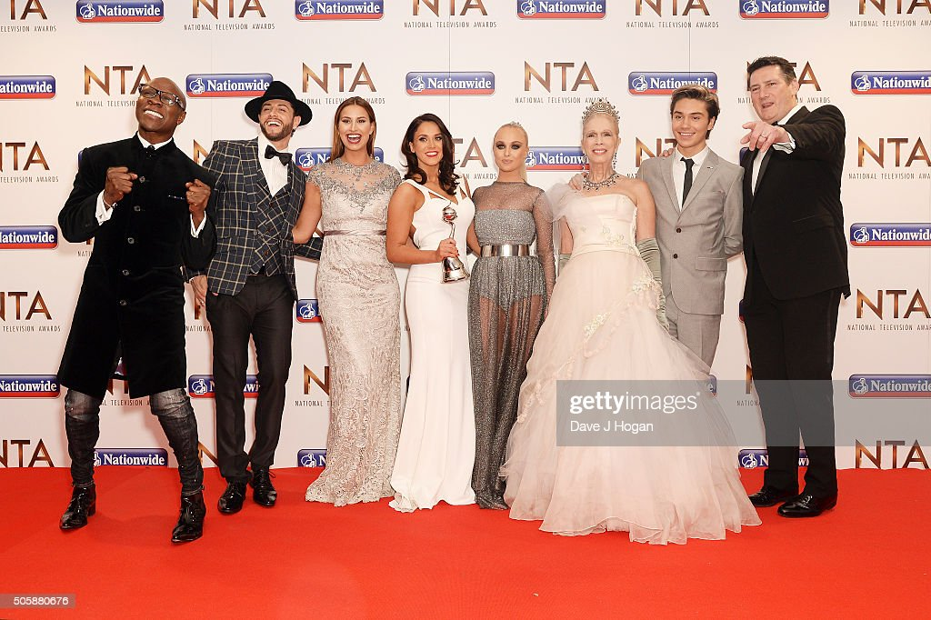 The cast of I'm a Celebirty accepts the award for Entertainment Programme during the 21st National Television Awards at The O2 Arena on January 20, 2016 in London, England.