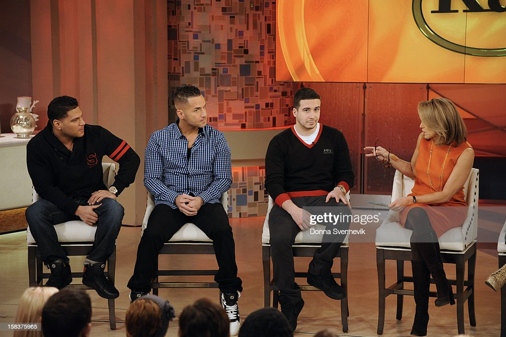 KATIE - The cast of Jersey Shore are guests on KATIE, 12/14/12, distributed by Disney-ABC Domestic Television. , VINNY GUARDAGNINO, KATIE COURIC