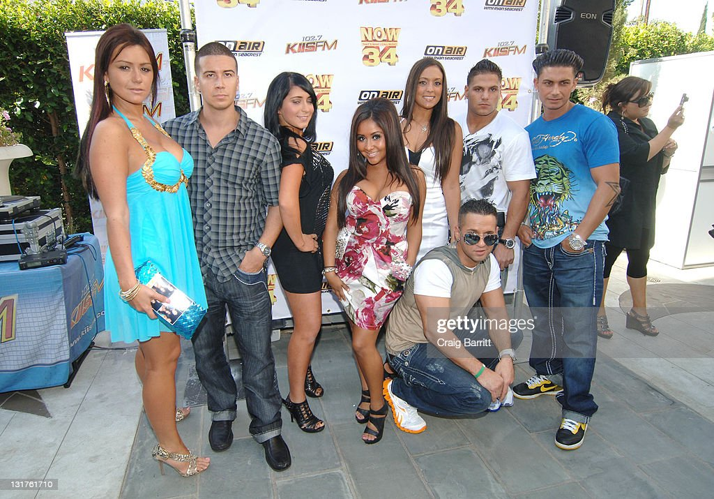 The cast of Jersey Shore at the Premiere Radio KIIS FM 'Now 34 And The Jersey Shore' Party at Hollywood Tower on July 11 2010 in Los Angeles...