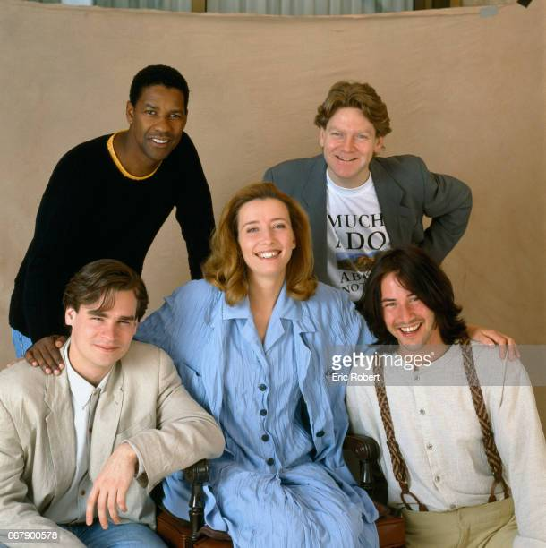 The cast of Kenneth Branagh's film Much Ado About Nothing attend the 1993 Cannes Film Festival Clockwise from top left are Denzel Washington Kenneth...