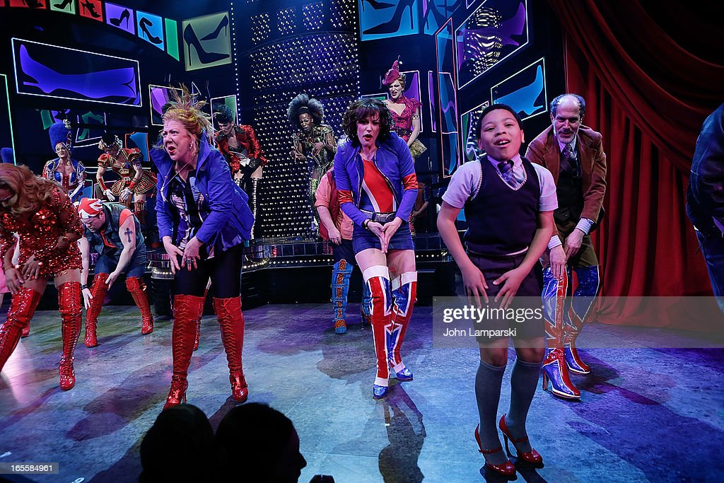 The cast of Kinky Boots perform at the 'Kinky Boots' Broadway Opening Night at the Al Hirschfeld Theatre on April 4, 2013 in New York City.