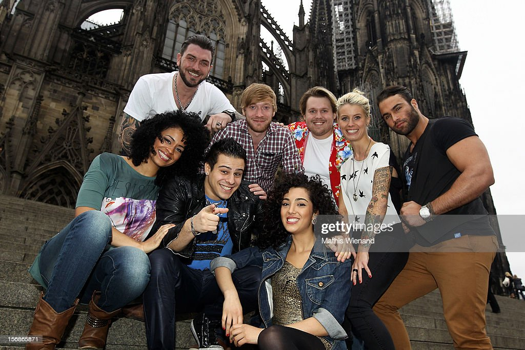 The cast of 'Koeln 50667' attends a press conference at the Cologne Cathedral on November 23, 2012 in Cologne, Germany.