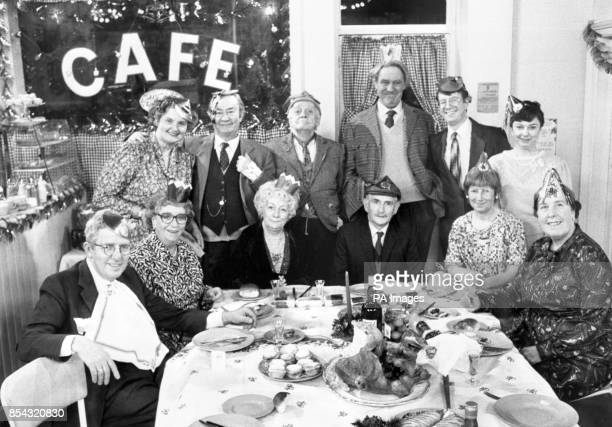 The cast of Last of the Summer Wine in the Christmas special Back row Ivy Clegg Compo Seymour Barry and Glenda Front Wesley Edie Aunty Wainwright...