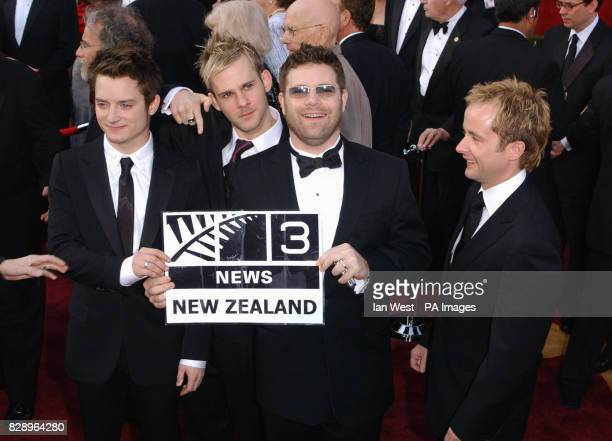 The cast of 'Lord of The Rings' Elijah Wood Dominic Monaghan Sean Astin and Billy Boyd arrive at the The 76th Annual Academy Awards at the Kodak...