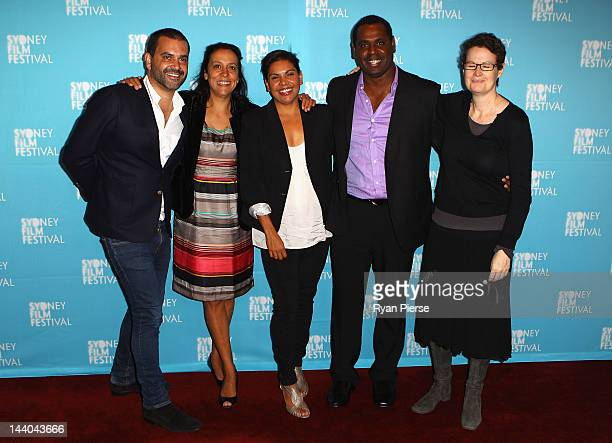 The cast of Mabo pose at the 2012 Sydney Festival program launch on May 9 2012 in Sydney Australia