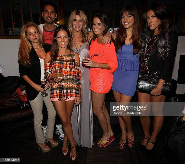 The cast of 'Made in Chelsea' Gemma Gregory Francesca Hull Gabriella Ellis Kimberley Garner and Hugo Taylor attend Cheska Hull's birthday at Sanctum...