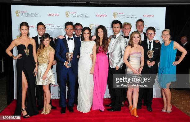 The Cast of Made in Chelsea with the Reality and Constructed Factual Award for Made in Chelsea at the Arqiva British Academy Television Awards 2013...