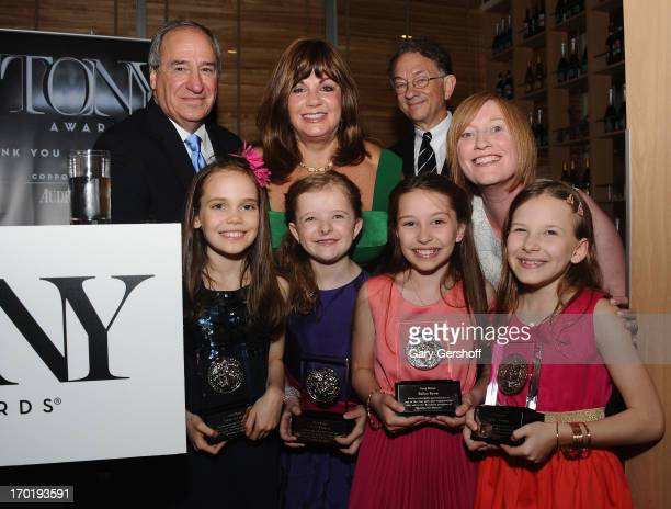 The Cast of 'Matilda' attend the 2013 Tony Awards Eve Cocktail Party at Luggo Caffe on June 8 2013 in New York City