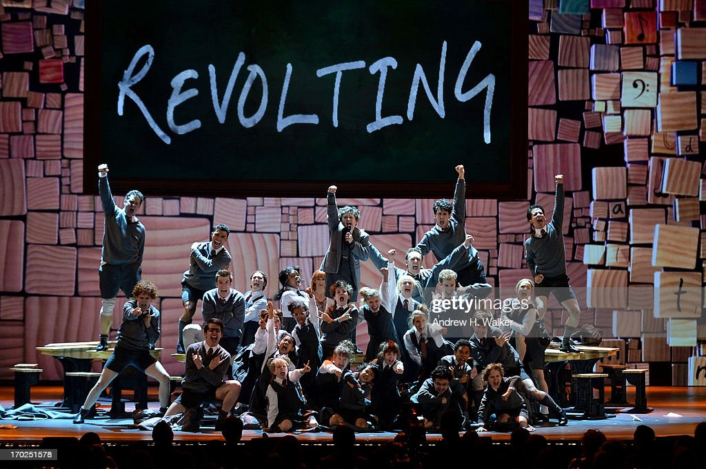 The cast of 'Matilda The Musical' performs onstage at The 67th Annual Tony Awards at Radio City Music Hall on June 9, 2013 in New York City.
