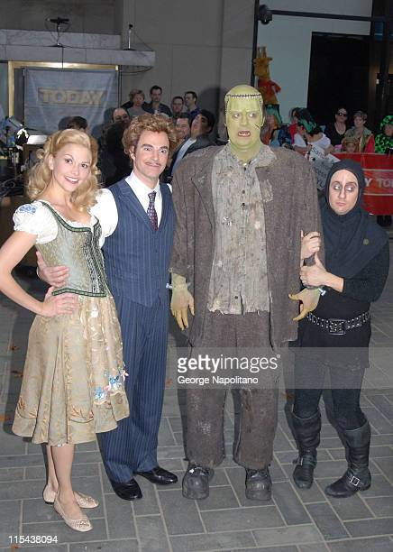 The cast of 'Mel Brooks' Young Frankenstein'Sutton Foster as 'Inga' Roger Bart as ' Dr Frankenstein' Shuler Hensley as 'Frankenstein' and Christopher...