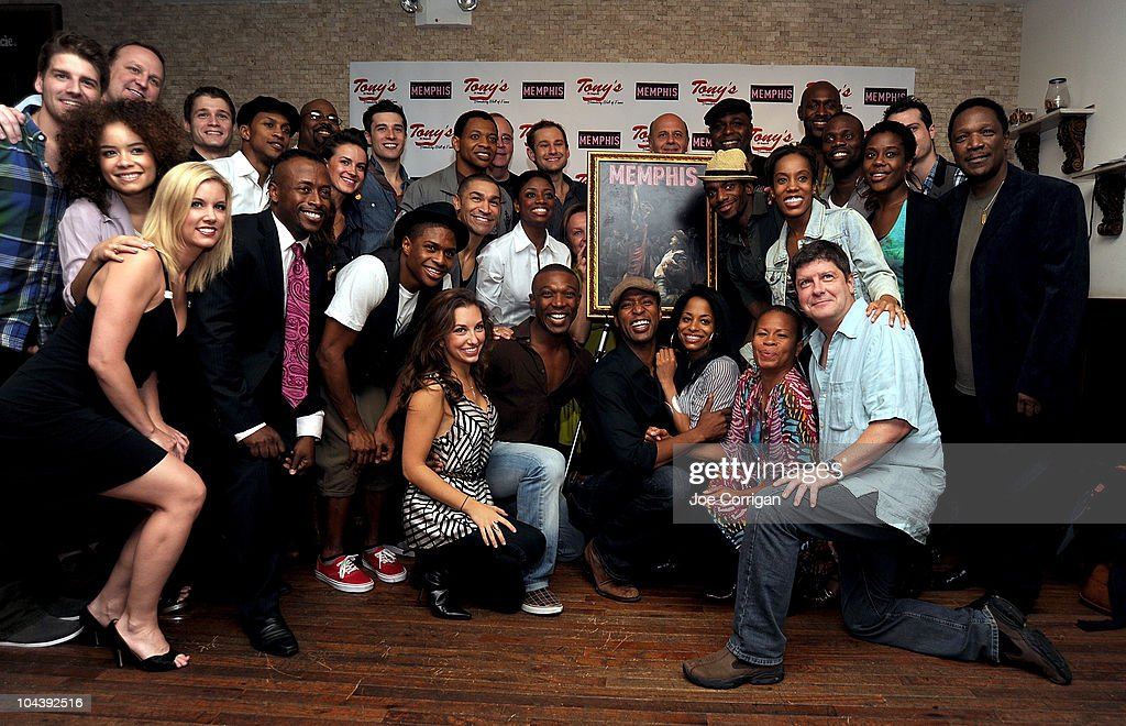 The cast of Memphis attends the 'Memphis' cast portrait unveiling at Tony's di Napoli on September 23, 2010 in New York City.