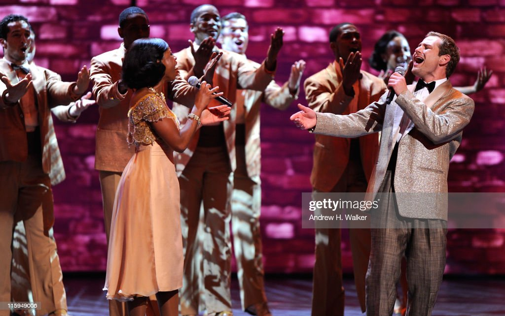 The cast of 'Memphis' performs on stage during the 65th Annual Tony Awards at the Beacon Theatre on June 12, 2011 in New York City.