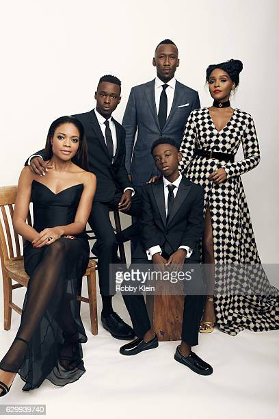 The cast of Moonlight are photographed Naomie Harris Ashton Sanders Mahershala Ali Alex R Hibbert Janelle Monae at the 22nd Critics Choice for...