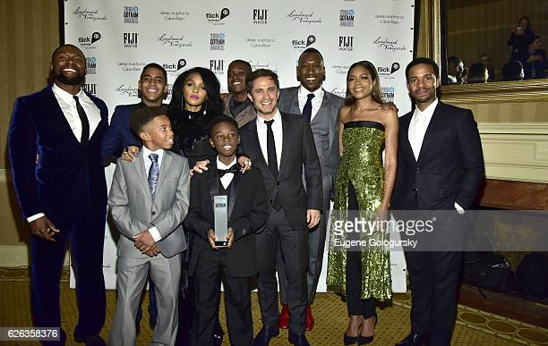 The cast of Moonlight Trevante Rhodes Jaden Piner Jharrel Jerome Janele Monae Alex Hibbert Ashton Sanders Gael Garcia Bernal Mahershala Ali Naomie...