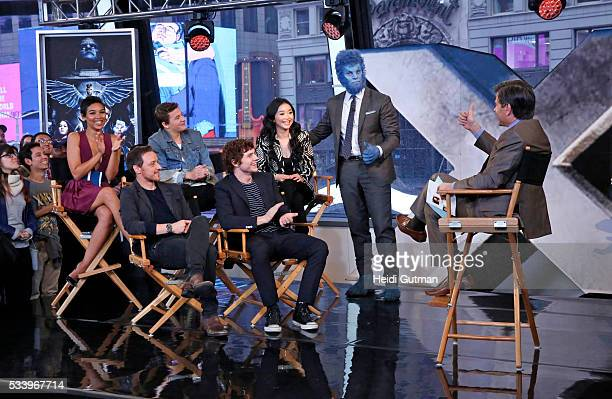 AMERICA The cast of of 'XMen Apocalypse' are on 'Good Morning America' 5/24/16 airing on the ABC Television Network ALEXANDRA