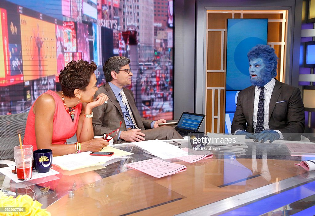 AMERICA - The cast of of 'X-Men: Apocalypse' are on 'Good Morning America,' 5/24/16, airing on the ABC Television Network. ROBIN