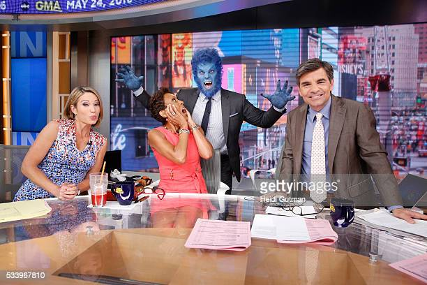 AMERICA The cast of of 'XMen Apocalypse' are on 'Good Morning America' 5/24/16 airing on the ABC Television Network AMY