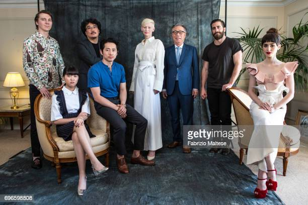 The cast of Okja are photographed for the Hollywood Reporter on May 22 2017 in Cannes France From left to right Paul Dano SeoHyun Ahn film director...