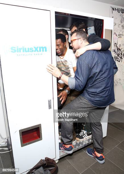The cast of Ophan Black visit at SiriusXM Studios on June 6 2017 in New York City