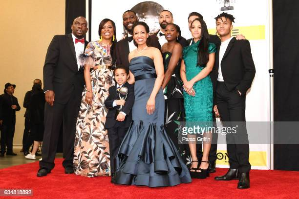 The cast of 'Queen Sugar' winner of the Outstanding Drama Series Award pose in the press room at the 48th NAACP Image Awards at Pasadena Civic...