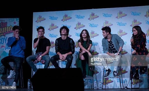 The cast of quotSoy Lunaquot during the press conference at the Book Fair on May 2 2016 in Buenos Aires Argentina