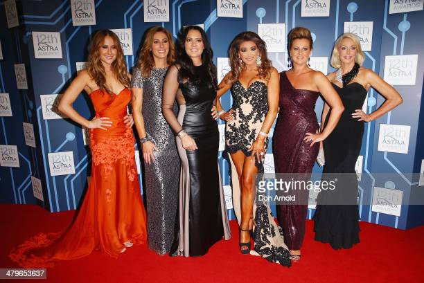 The cast of Real Housewives of Melbourne attend the 12th Astra Awards at Carriageworks on March 20 2014 in Sydney Australia