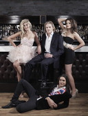 The cast of reality tv show Made in Chelsea from left to right Francesca 'Cheska' Hull Richard Dinan Ollie Locke and Alexandra Felstead are...