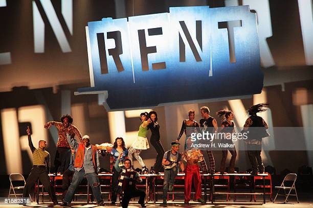 The cast of Rent performs onstage during the 62nd Annual Tony Awards held at Radio City Music Hall on June 15 2008 in New York City
