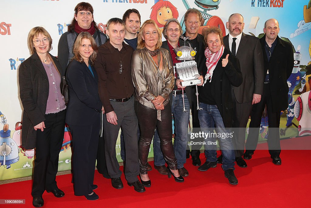 The cast of Ritter Rost at the Ritter Rost Premiere on January 6, 2013 in Munich, Germany.