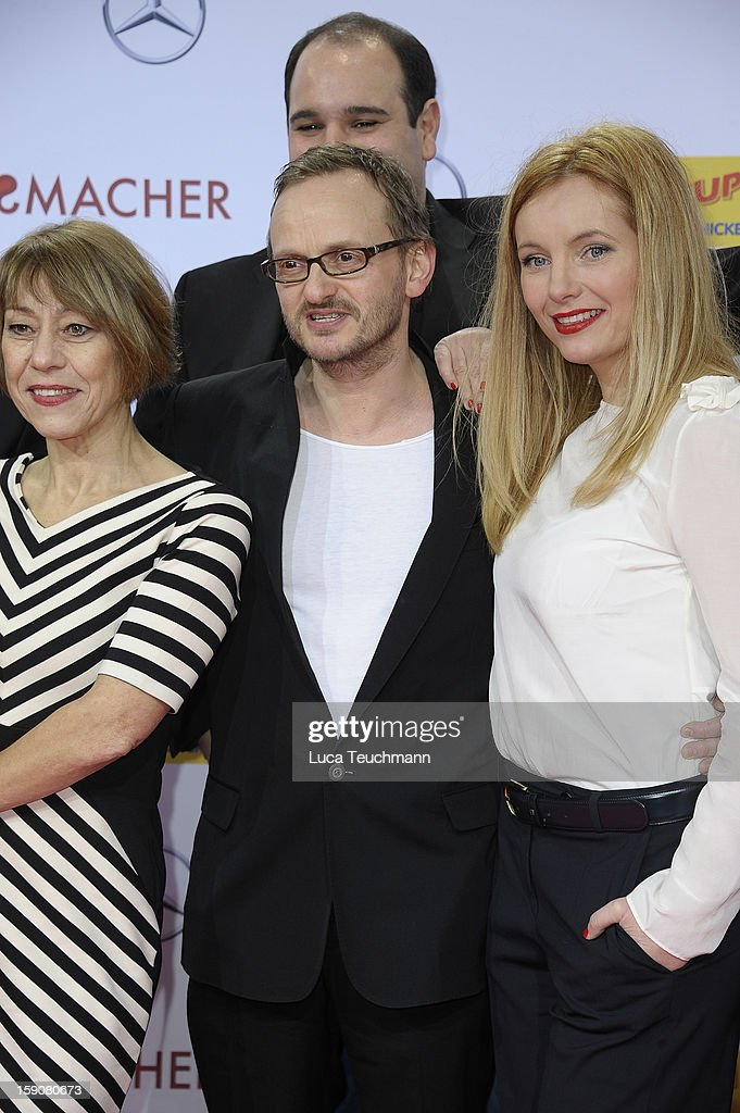The cast of 'Schlussmacher' attend the 'Der Schlussmacher' Berlin Premiere at Cinestar Potsdamer Platz on January 7, 2013 in Berlin, Germany.
