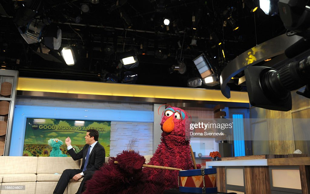 AMERICA - The cast of Sesame Street visits 'Good Morning America,' 5/10/13, airing on the ABC Television Network. (Photo by Donna Svennevik/ABC via Getty Images) ROSITA, JOSH ELLIOTT, TELLY