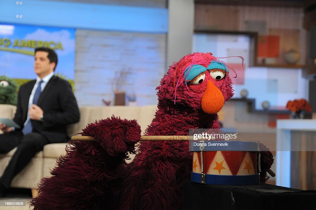 AMERICA - The cast of Sesame Street visits 'Good Morning America,' 5/10/13, airing on the ABC Television Network. (Photo by Donna Svennevik/ABC via Getty Images) JOSH