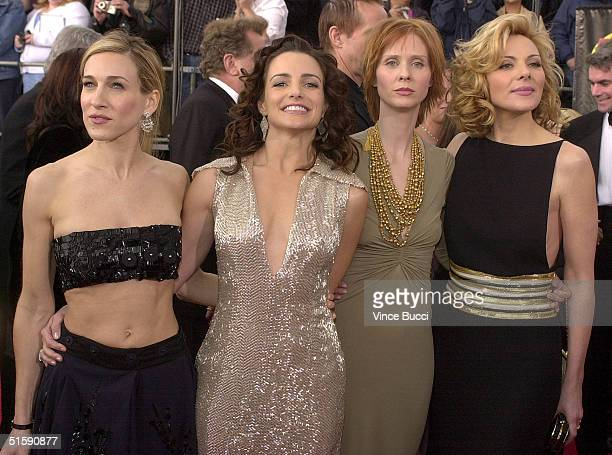 The cast of 'Sex and the City' arrive at the 7th Annual Screen Actors Guild Awards 11 March 2001 in Los Angeles The cast is nominated for Outstanding...