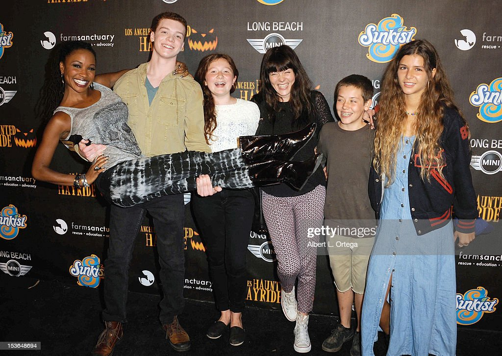 The cast of 'Shameless' arrive for the 4th Annual Los Angeles Haunted Hayride - 'The Congregation' held at Griffith Park on October 7, 2012 in Los Angeles, California.