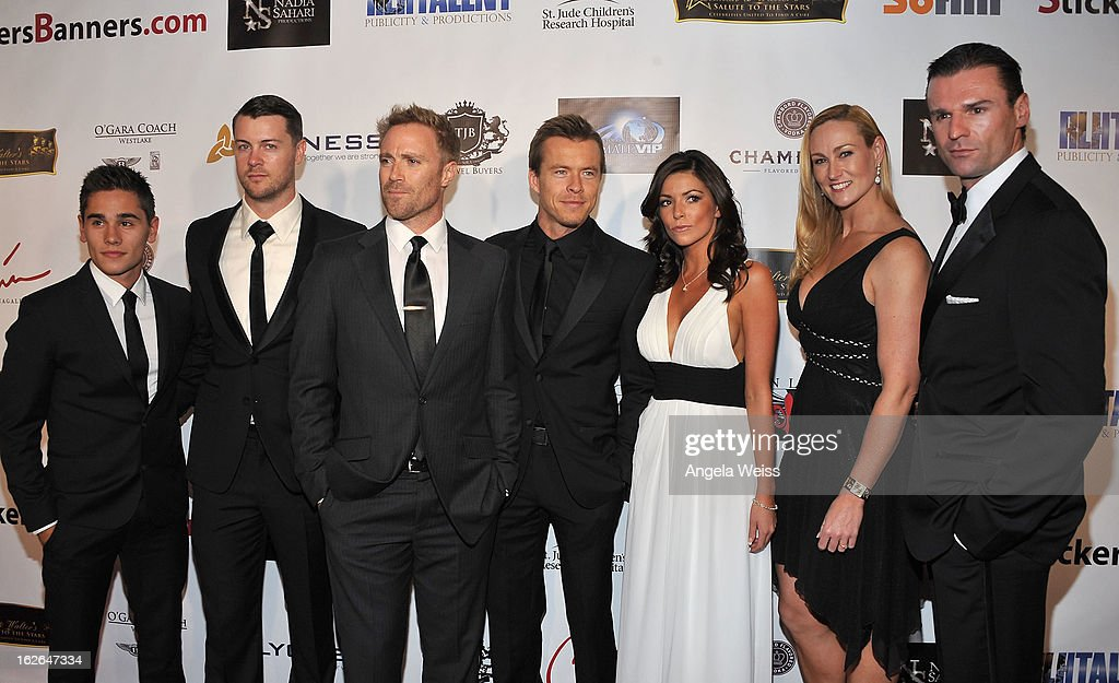 The cast of 'Spartacus' attends the Hellman & Walter's 'Salute To The Stars' Oscar after party at Andaz on February 24, 2013 in West Hollywood, California.